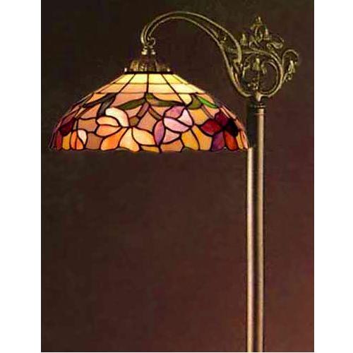 Azalea Floral Tiffany Stained Glass Floor Lamp