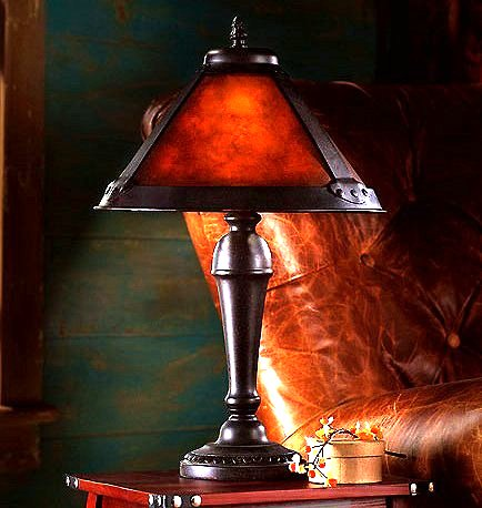 Mission Craftsman Mica Accent Table Lamp