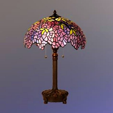 Stained Glass Tiffany Wisteria Table Lamp