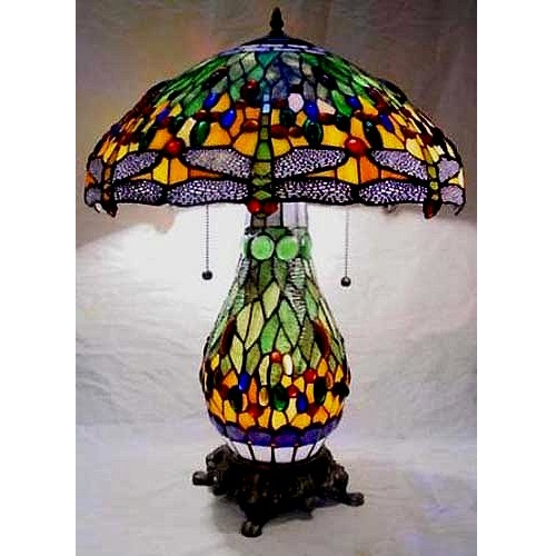 Table lamps mission lamps tiffany lamps stained glass aloadofball Image collections