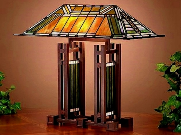 Mission Tiffany Stained Glass Lamps