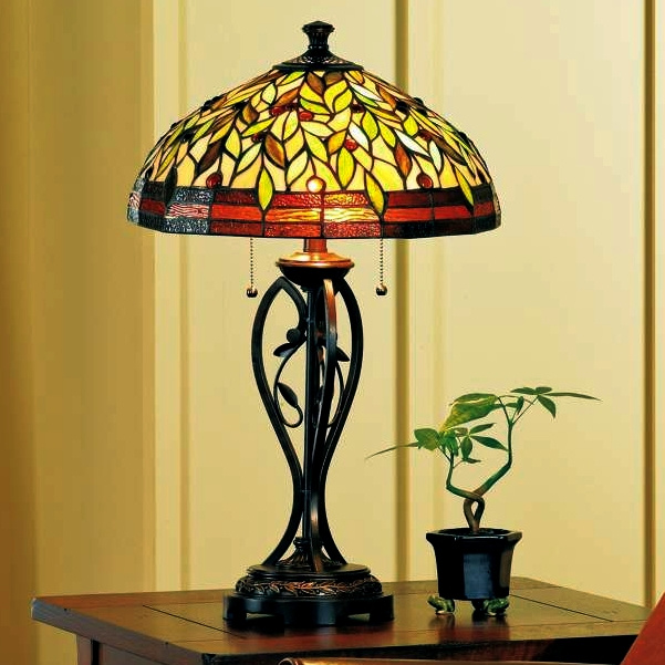 Leaf And Vine Tiffany Table Lamp