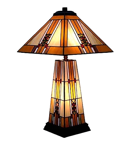 Mission Frank Lloyd Wright Style Lamp